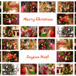 Merry Christmas Collage — Foto de Stock