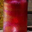 Stock Photo: Antique Cranberry Glass Lamp Shade