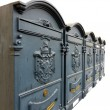 Ornate Mailboxes With Armorials — Stock Photo
