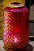 Antique Cranberry Glass Lamp Shade — Stock Photo