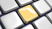 Keyboard (detail) with Florida map key — Zdjęcie stockowe