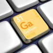 Keyboard (detail) with Gallium element — Stock Photo #7535971