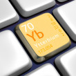 Keyboard (detail) with Ytterbium element — Stock Photo