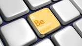 Keyboard (detail) with Beryllium element — Stockfoto