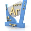 Argon form Periodic Table of Elements - V2 — Stock Photo #7619133