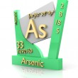 Arsenic form Periodic Table of Elements - V2 — Stock Photo #7619167