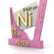 Nickel form Periodic Table of Elements - V2 — Stock Photo