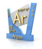 Argonu formularz układ okresowy pierwiastków - v2 — Zdjęcie stockowe