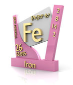 Iron form Periodic Table of Elements - V2 — Стоковое фото