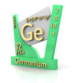 Germanium form Periodic Table of Elements - V2 — Stock Photo