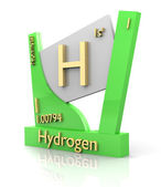 Hydrogen form Periodic Table of Elements - V2 — Stock Photo