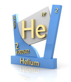 Helium form Periodic Table of Elements - V2 — Stock Photo