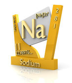 Sodium form Periodic Table of Elements - V2 — Stock Photo