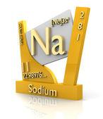 Natrium formulier periodieke tabel van elementen - v2 — Stockfoto