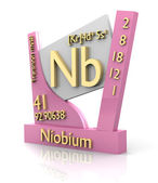 Niobium form Periodic Table of Elements - V2 — Stockfoto