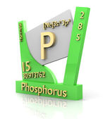 Phosphorus form Periodic Table of Elements - V2 — Stock Photo