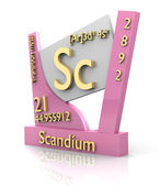 Scandium form Periodic Table of Elements - V2 — Stock Photo