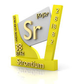 Strontium form Periodic Table of Elements - V2 — Stock Photo