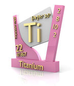 Titanium form Periodic Table of Elements - V2 — Stock Photo