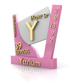 Yttrium form Periodic Table of Elements - V2 — Stock Photo