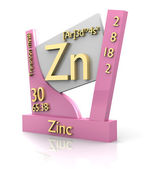 Zinc form Periodic Table of Elements - V2 — Zdjęcie stockowe