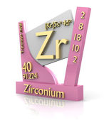 Zirconium form Periodic Table of Elements - V2 — Foto de Stock
