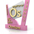 Osmium form Periodic Table of Elements - V2 — Stock Photo #7858606
