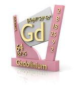 Gadolinium form Periodic Table of Elements - V2 — Stock Photo