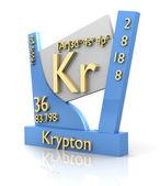 Krypton form Periodic Table of Elements - V2 — Stock fotografie