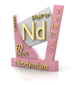 Neodymium form Periodic Table of Elements - V2 — ストック写真