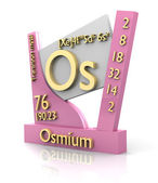 Osmium form Periodic Table of Elements - V2 — Foto Stock