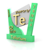 Tellurium form Periodic Table of Elements - V2 — Stockfoto