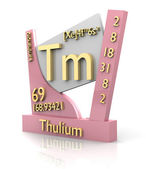 Thulium form Periodic Table of Elements - V2 — Stock Photo