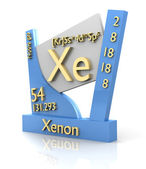 Xenon form Periodic Table of Elements - V2 — Stock Photo