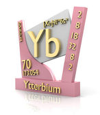 Ytterbium form Periodic Table of Elements - V2 — Stock Photo