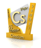 Caesium form Periodic Table of Elements - V2 — Stock Photo