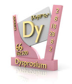 Dysprosium form Periodic Table of Elements - V2 — Stock Photo