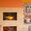 Foto de Stock  : Wood-burning
