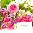 Beautiful bright bouquet of roses — Stock Photo