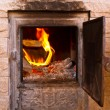 Stock Photo: Flame in furnace