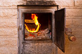 Flame in the furnace — Stock Photo