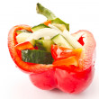 Cucumber salad and sweet pepper — Stock Photo #7554767