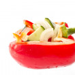Cucumber salad and sweet pepper — Stock Photo