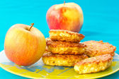 Apple pancakes — Stock Photo