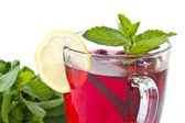 Rosehip tea and mint — Stock Photo