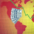 World economic crisis - America - Stock Photo