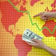 World economic crisis - money in hand — Stock Photo #7186905