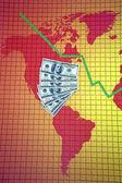 World economic crisis - America — Stock Photo
