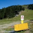 Ski trail in summer — Stock Photo