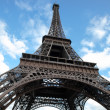 Stock Photo: Eiffel tower in Paris wide angle shot
